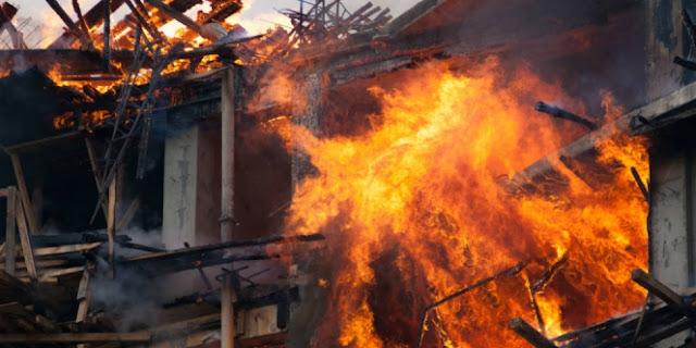 Satu Unit Rumah Hangus Terbakar di Nonongan Sopai