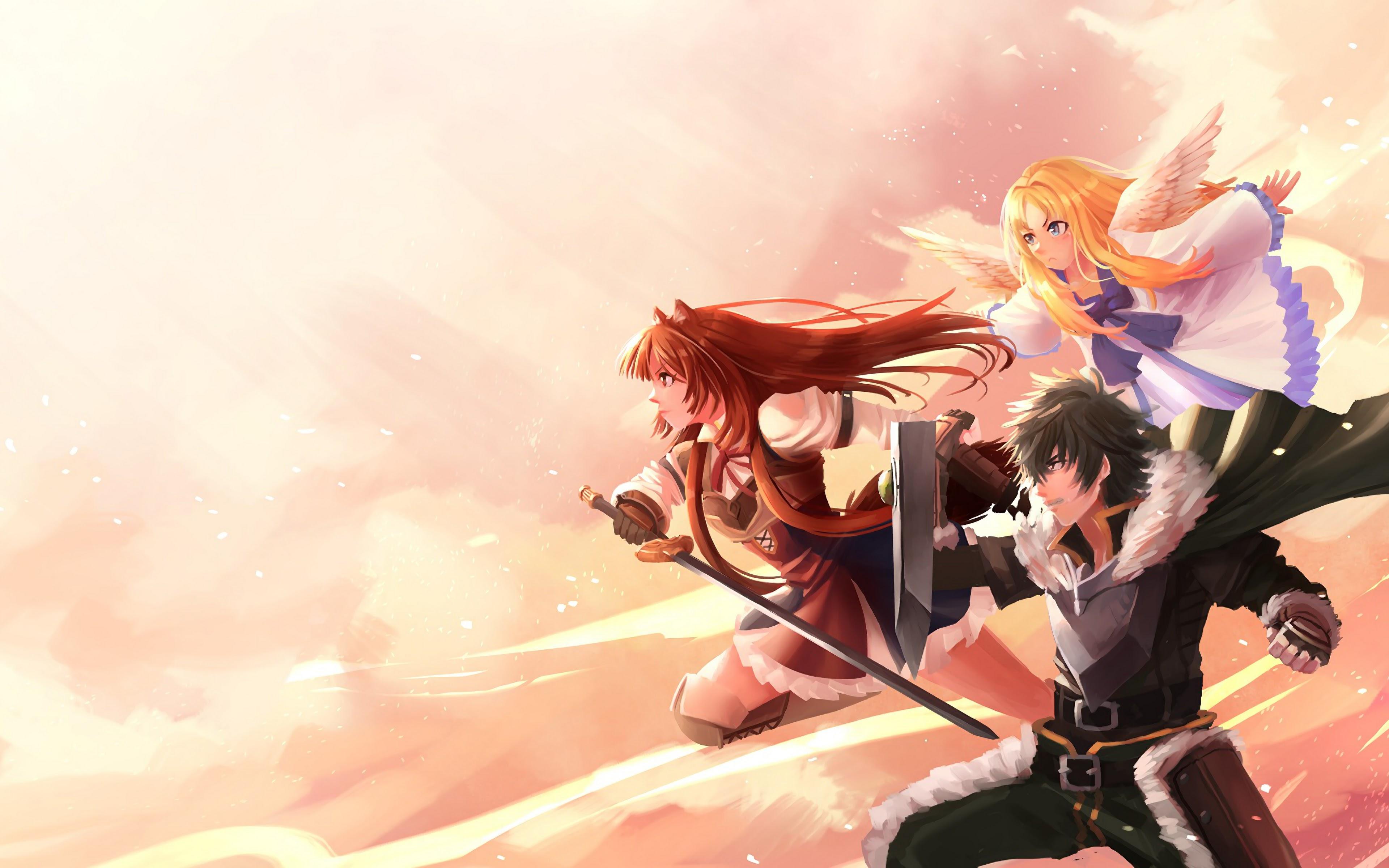 Naofumi Raphtalia Filo The Rising Of The Shield Hero 4k Wallpaper 26