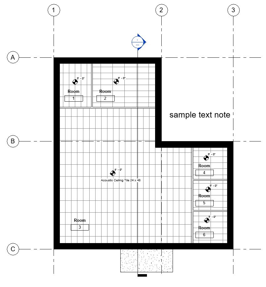 Elevation Plan Notes : Bim chapters binding revit links part