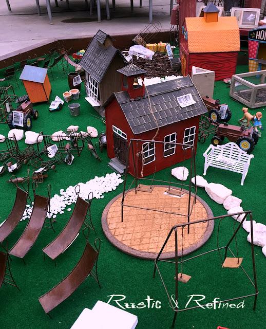 Fairy Gardens with a school house theme