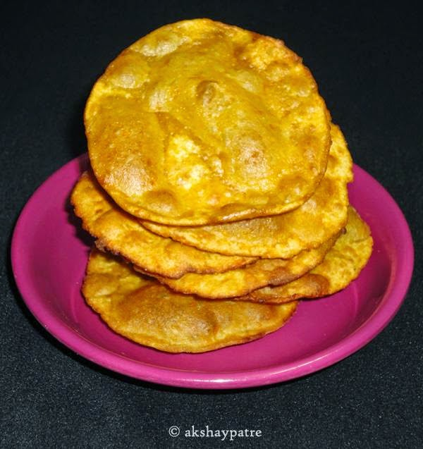 Pumpkin poori in plate