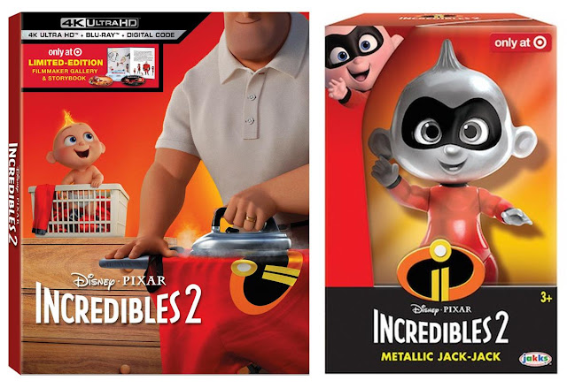 Target Incredibles 2 4K Blu-ray & Metallic Jack-Jack Toy