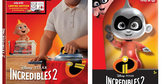Target REDcard Exclusive Metallic Jack-Jack Toy & More Retailer-Exclusives for the 'Incredibles 2' UHD/4K Blu-ray Release