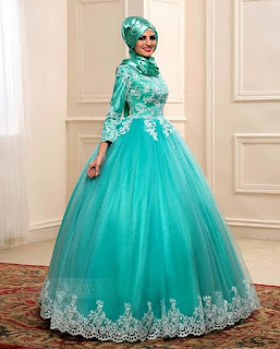 gaun pengantin muslimah bandung