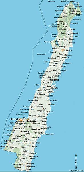 karta över öland Karta över Öland Regionen | Karta över Sverige, Geografisk, Fysisk  karta över öland