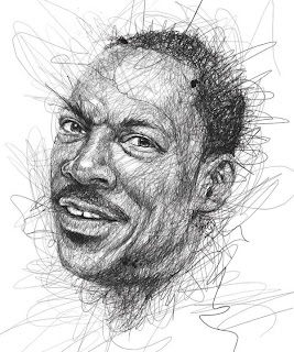 Bocetos a lápiz de los famosos.