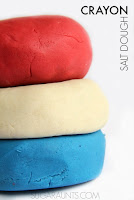 Patriotic Crayon Play Dough Recipe