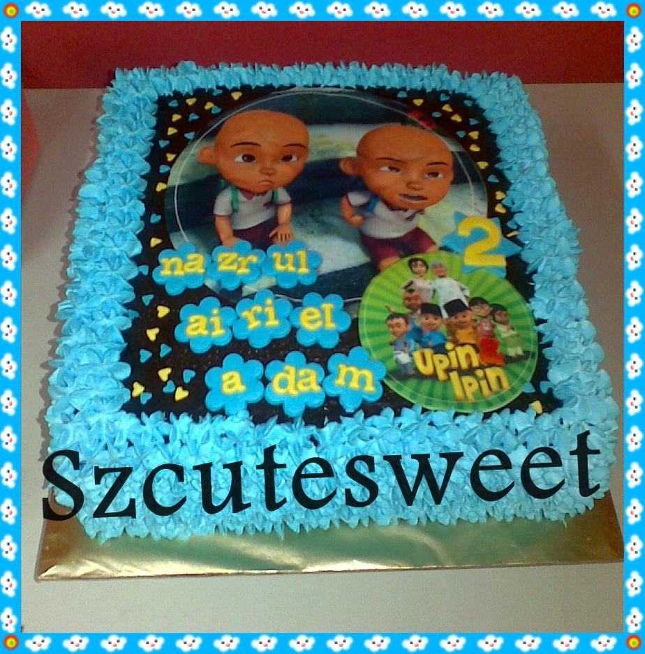 szcutesweet upin ipin birthday cake