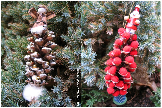 How To Make A Pine Cone Christmas Tree Ornament