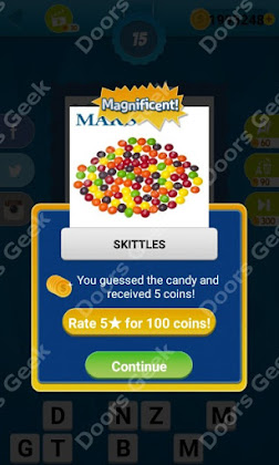 Answers, Cheats, Solutions for Guess the Candy Level 15 for android and iphone