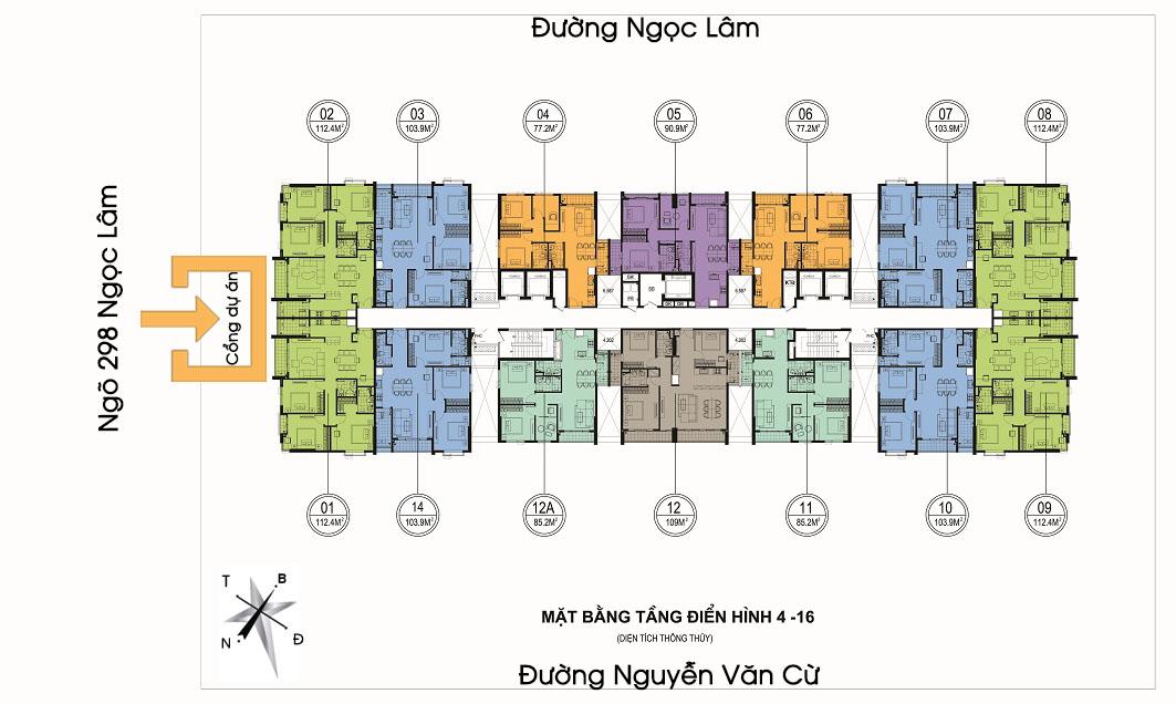 Thiết kế các căn hộ tại One18 đều có 2 hoặc 3 mặt thoáng
