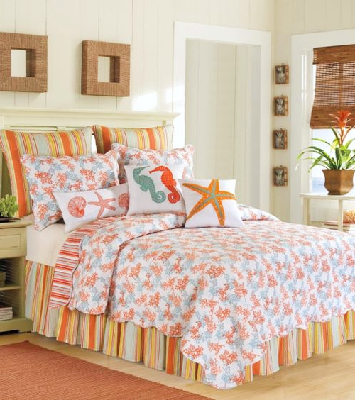 Coral Cotton Bed Quilt