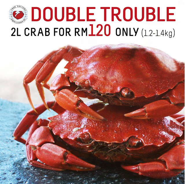 Crab Factory SS2 - Two L size crabs (1.2-1.4kg) for RM120 only
