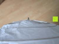 """Boden: LIHAO 8"""" weiße runde Papier Laterne Lampion Lampenschirm Hochtzeit Party Dekoration Ballform - (10er Packung)"""