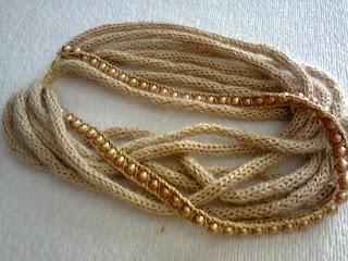collana fatta a mano con perle