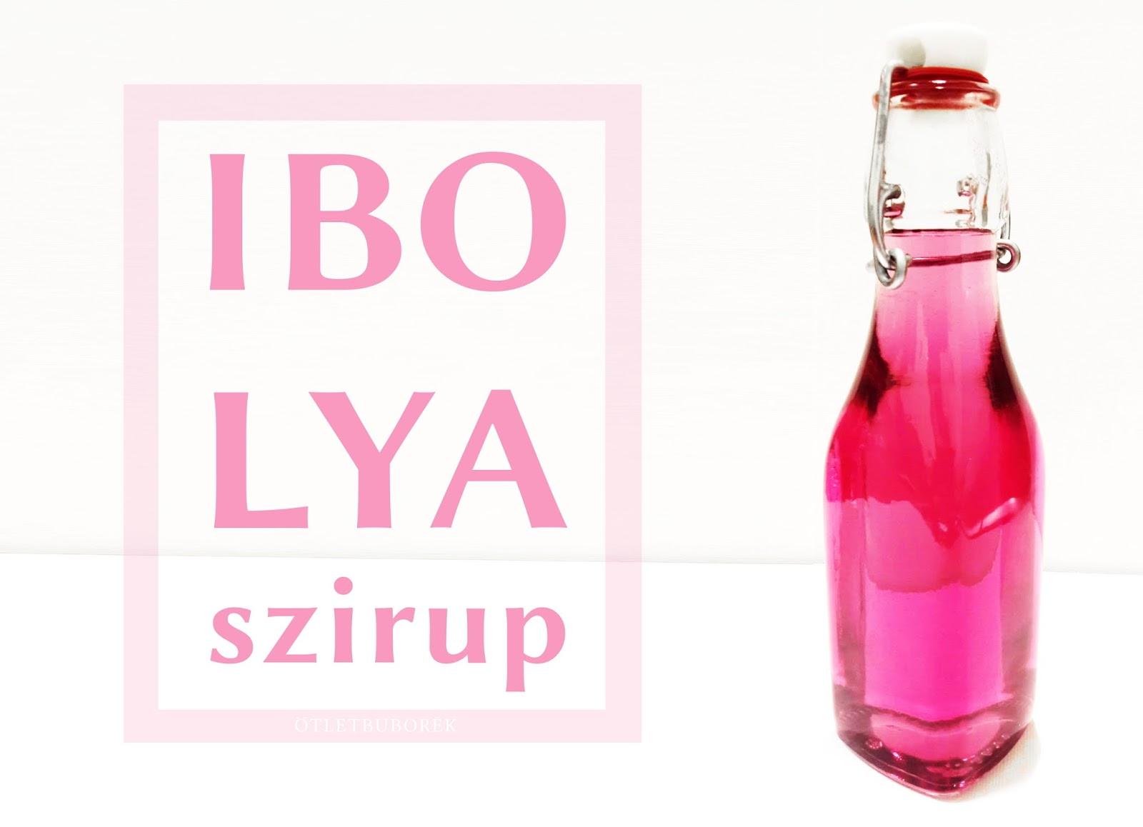 Ibolyaszirup recept