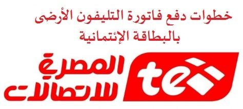 شرح بالخطوات دفع فواتير التليفون الارضى من خلال الانترنت