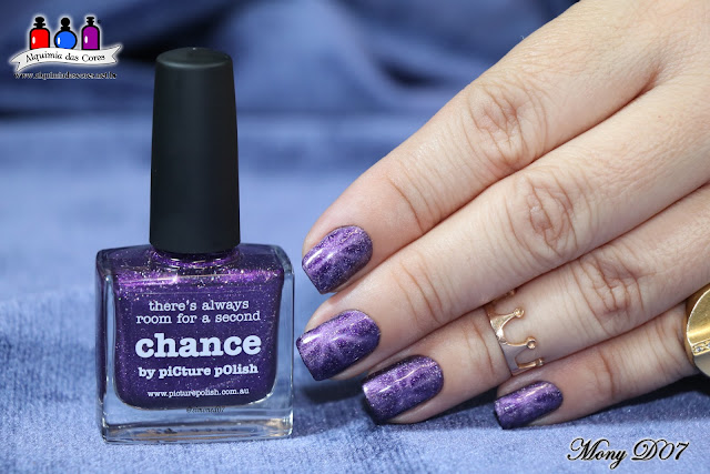 Chance, Holográfico, Limited Edition, Magnético, Mony D07, Opulence Shades, Picture Polish, Roxo, Seche Vive,
