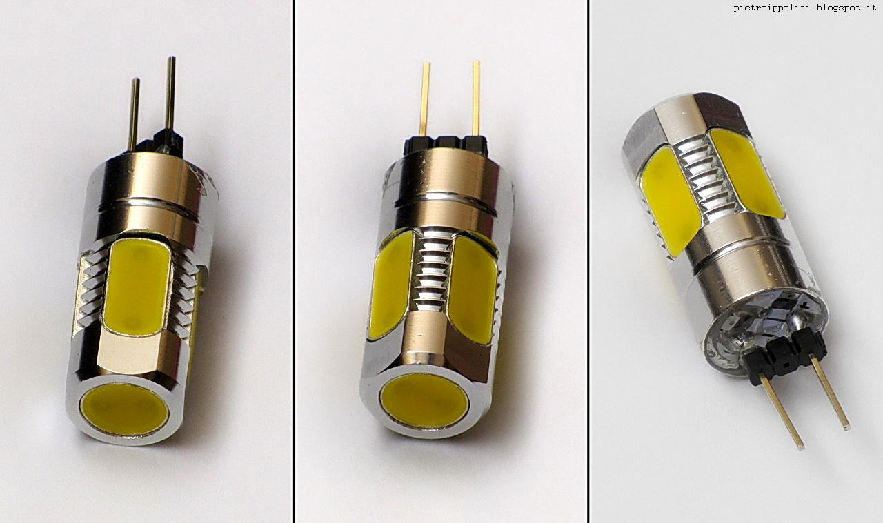 Pietro ippoliti thorndyke test lampadine g4 12v a led cob for Lampadine a filamento led