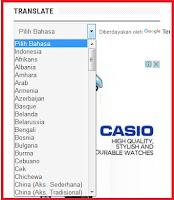 Cara Pasang Widget  Translate Online Untuk Blog di Blogspot
