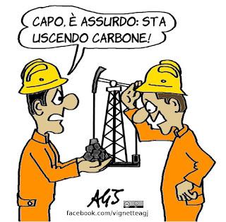 PD, Carbone, ciaone, referendum, affluenza, trivelle, vignetta, satira