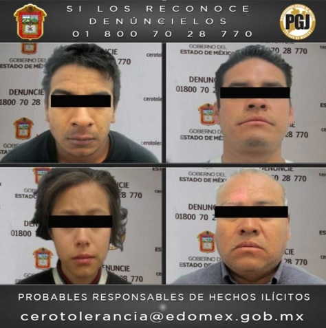 Fotografías de los detenidos