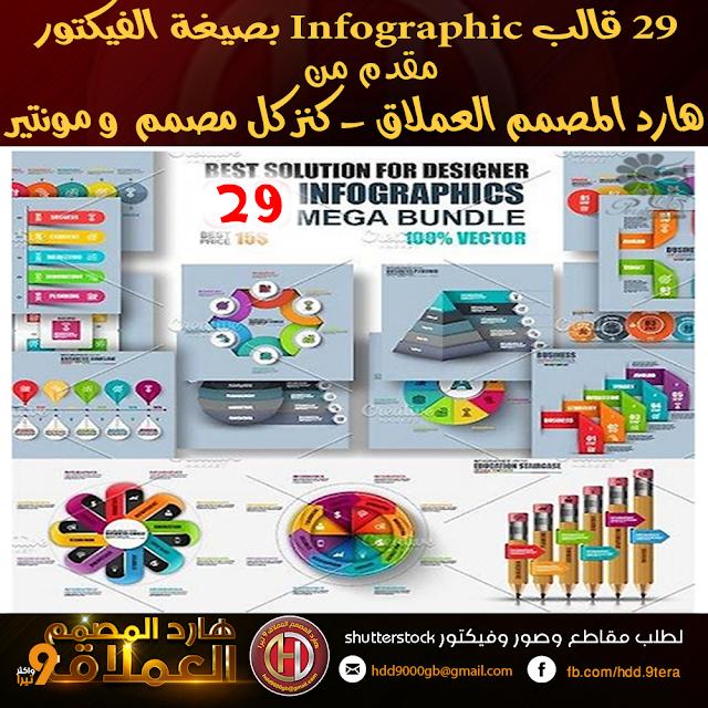 29  تصميم Infographic إحترافي بصيغة الفيكتور