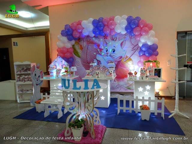 Decoração Gatinha Marie para festa de aniversário infantil - Barra da Tijuca RJ