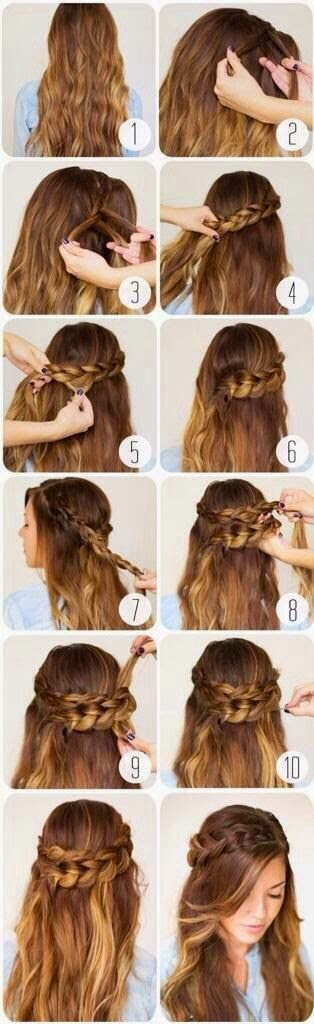 5 Cute Hairs tutorial For Valentine's Day}