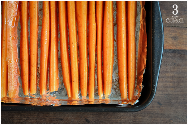 cenoura forno como fazer