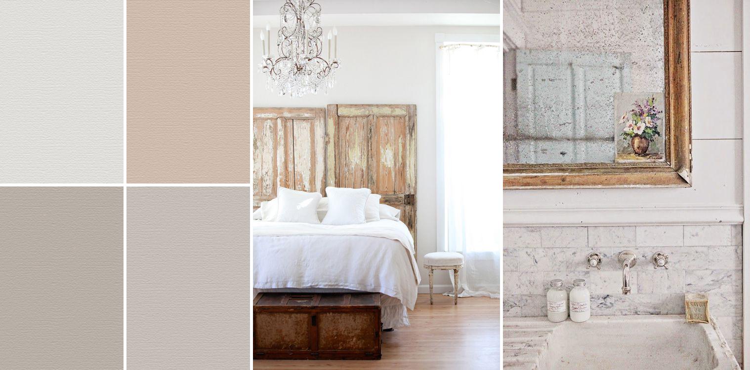 Decorare la casa con la pittura - Shabby Chic Interiors