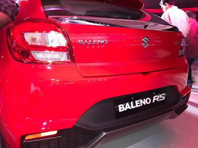 New 2017 Maruti Suzuki Baleno RS rear bumper