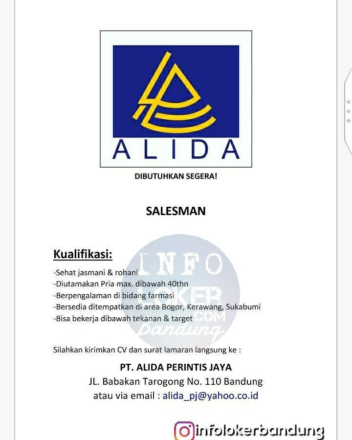 Lowongan Kerja PT. Alida Perintis Jaya Bandung April 2018