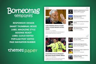 Borneomag Blogger template responsive