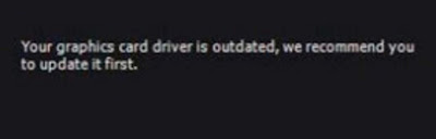 حل مشكلة update your graphic driver في البرامج والألعاب