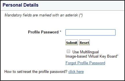 Profile Password