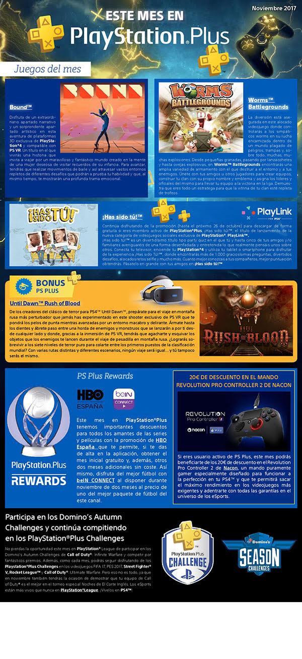 PlayStation Plus desvela sus juegos de noviembre 2017