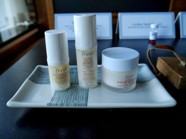 Fresh Lotus Youth Preserve Radiance Lotion, Face Cream, and Lotus Eye Gel
