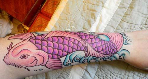 pink koi fish tattoos koi balığı dövmeleri