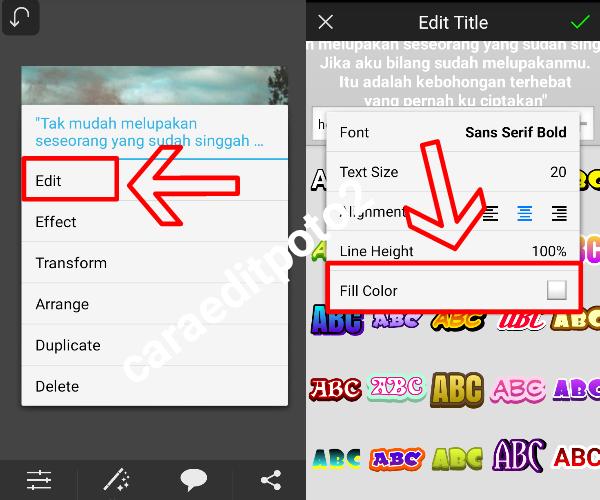 cara membuat typography dua warna keren di picsay pro