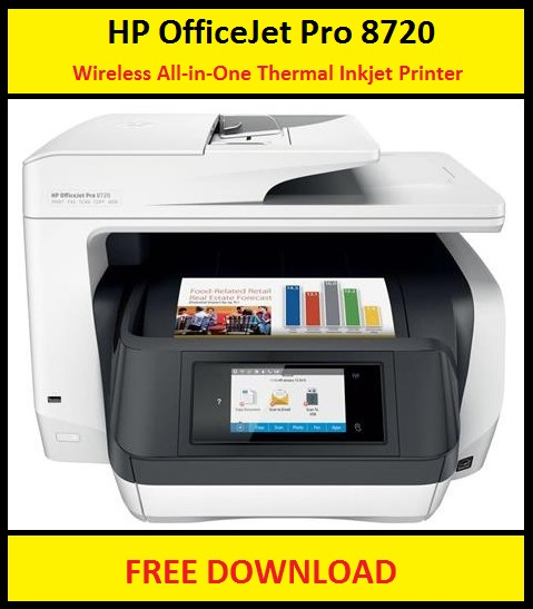 HP OfficeJet Pro 8720 Printer Software & Drivers Download