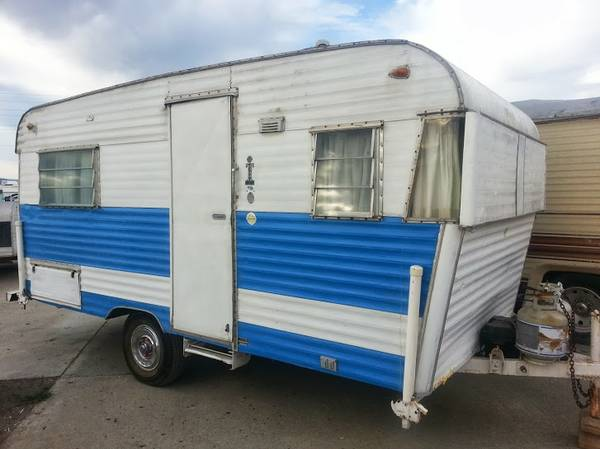 used rvs 1964 terry vintage travel trailer for sale by owner. Black Bedroom Furniture Sets. Home Design Ideas