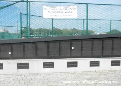 The Wildwoods Vietnam Memorial Wall in Wildwood - New Jersey