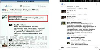 Innalillahi... Netizen Unggah Status Fesbuk, 'Dibohongi Pake Surat An-Nisa Ayat 3'