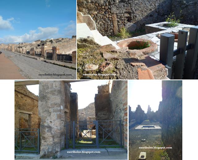 Viaje a Roma: Pompeya, calles y edificios