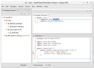 Java 9 module-info Files in the Eclipse IDE