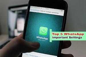 WhatsApp Ki Important Settings #WhatsApp Tricks