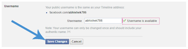 Apna username dale aur phir save changes par click kare