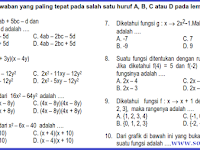 Soal UAS MTK SMP Kelas 8 Semester 1