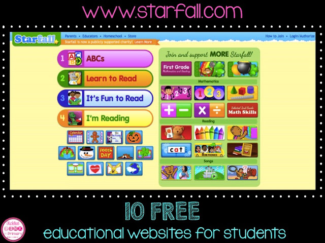 FREE Educational Websites for Students - Starfall